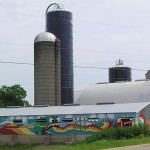 Farm with mural near Marshall